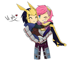 [ Quinn and Vi ] Love your jungler! by zLivesInADream