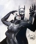 Catwoman and Batman by Kenu