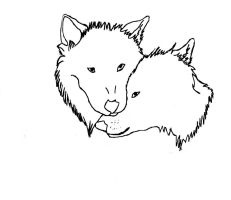 Wolf love lineart by CanineCriminal
