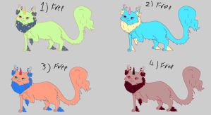 Adoptable Cattuscorns free set 2 SOLD! by Feendra13