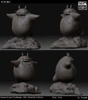 Speed Sculpt Challenge-Totoro by fireantz83