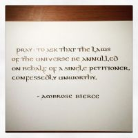 Instagram - Ambrose Bierce - Pray by MShades