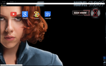 Black Widow Avengers Theme by bandchromethemes