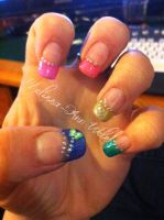 Rainbow nails by hugmemel