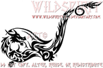 Tribal Dragon Ankle Tattoo by WildSpiritWolf