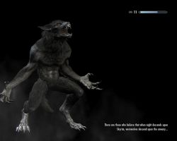 Skyrim Werewolf by DeeryDeerth