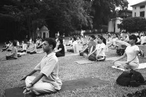 Yoga Session at fort canning by nickpower