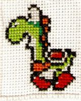 Yoshi Cross Stitch by magentafreak