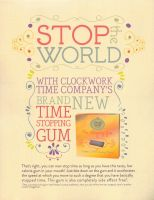 Time Gum Ad by wynningdesigns