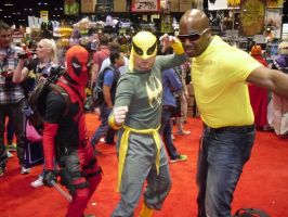 DEADPOOL, IRON FIST, AND LUKE CAGE by Darth-Slayer