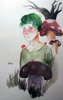 The Lonely Mushroom Guy by NasiK2424