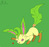 Request - Playful Leafeon by AncientKyuubi