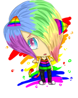 Rainbow Boy by ZombieJadeZombie