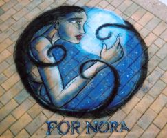 For Nora Pavement art by CptMunta