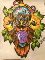OWL OF TIME. by NickFameArt