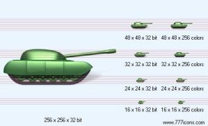 Tank with shadow Icon by military-icons