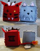 Cubes: Red XIII and Wolf by HelloBatty