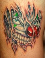 Clown tattoo by cj123htt