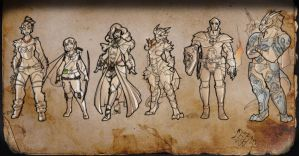 Dungeons and Dragons - ...Only 5 survived by The-Pirate-Fox