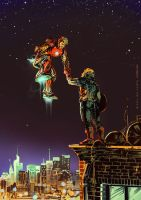 20130403 iron man and captain america by gazdowna
