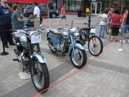 Two Triumphs and a Whizzer by motoryeti