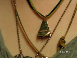 Jewelry - Granite Pyramid Wrapped in Copper by JamaYounique