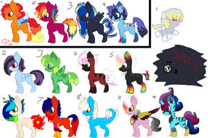 Leftover Adopts 2 + DTA by Kyah-Pony-Adoptables