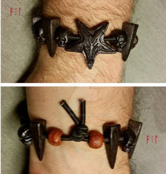 Blackened Bracelet 2 by asleifr