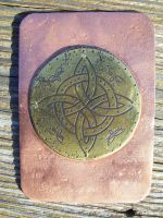 Celtic Targe ATC 2 by creativeetching