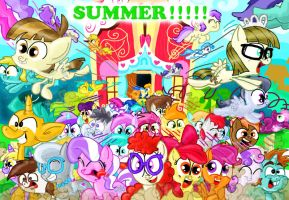 Summer break in Ponyville! by seriousdog