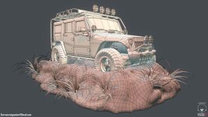 JeepWrangler_Front_Wire by DTHerculean