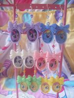 MLP FIM Cameo Earrings by lessthan3chrissy