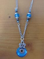 blue deco necklace by Darla-Illara