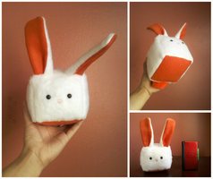 Cubebehs | White/Orange Bunneh (For Sale!) by Sir-Herp