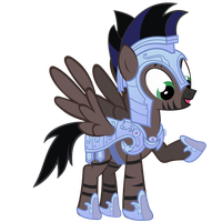 Stormy Vector - Crystal Pony Armor by Anxet