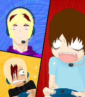 ::Gamers Collab::Done:: by Ryoko-Shonen