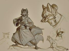 Kitsune Clan. Sketches. by FortunataFox