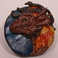 Fall Dragon Pendant by mindsend