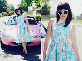 Pink Car series by candypow
