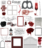 True Blood / Vampire: Word Art + Clear Cut PNG 27 by Riogirl9909stock
