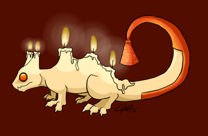 Candle Dragon + Background by bunslake