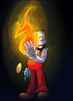 Fire Mario by Ziggyfin