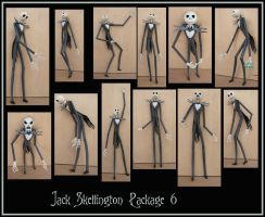Jack skellington pack 6 by Adaae-stock