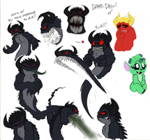 Dark Devil Doodling 2011 by Mickeymonster
