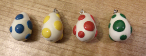 Yoshi Egg Charms by HideTheDecay