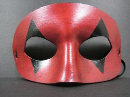 Leather red and black mask by maskedzone