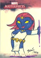 Marvel Sketch Proof- Mystique. by hedbonstudios
