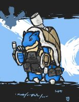 Quick and Dirty Tactical Blastoise by Yoblicnep