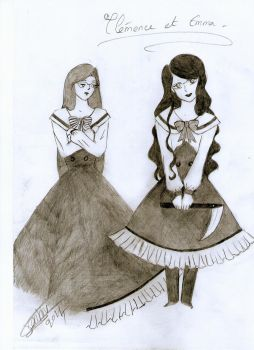 Clemence and Emma to the Academy by Momo0302