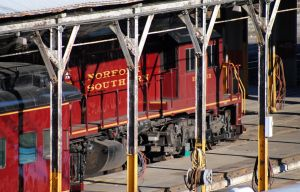Norfolk Southern red gold by xshadow259